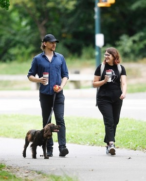 Bobby and Tom Hiddleston in Central Park, New York City (August 21, 2019)