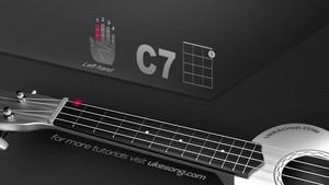 C 7 chord ukulele