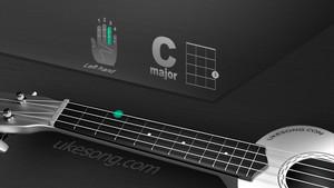 C major chord ukulele