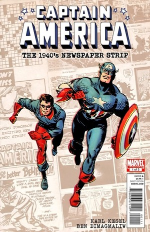 Captain America The 1940s Newspaper Strip no. 1 Cover