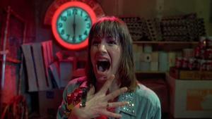 Caroline Williams in The Texas Chainsaw Massacre 2