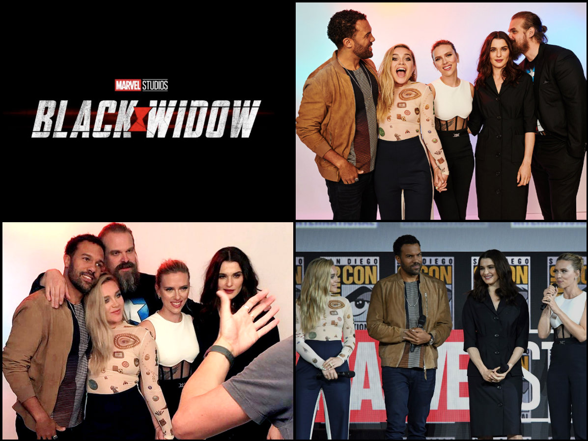 Cast of Black Widow -2019 Marvel Comic Con