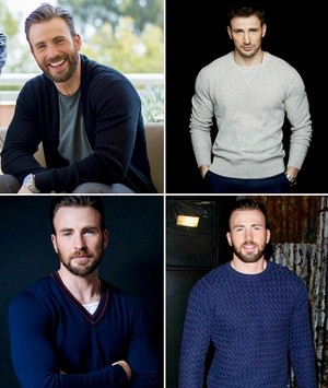 Chris Evans plus sweaters (bc we amor a dork who likes to be cozy)