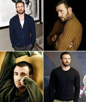 Chris Evans plus sweaters (bc we love a dork who likes to be cozy)