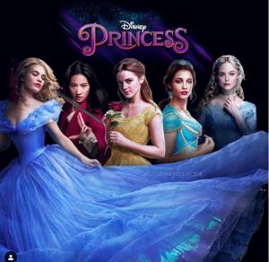 Cinderella, Mulan, Belle, Jasmine, Aurora