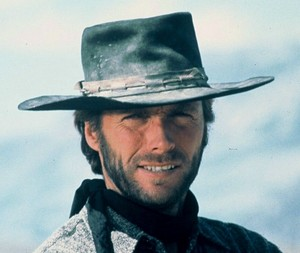 Clint Eastwood on the set of High Plains Drifter