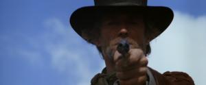 Clint as Preacher in Pale Rider (1985)