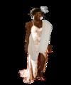 Coco Jones as Tiana (White Fantasy Dress) - disney-princess fan art