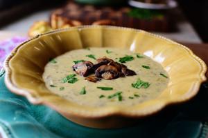 Creamy гриб суп