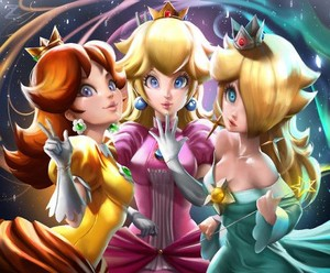 Daisy, Peach, Rosalina