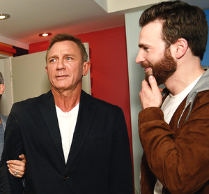 Daniel Craig and Chris Evans Toronto International Film Festival at Hotel Le Germain