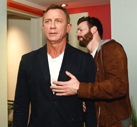 Daniel Craig and Chris Evans Toronto International Film Festival at Hotel Le Germain