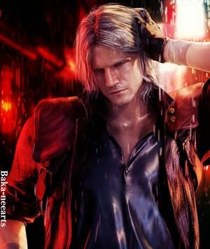 Dante under the rain