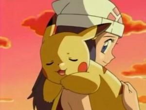 Dawn and Pikachu