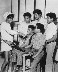Diana Ross  In. Recording Studip With The Jackson 5