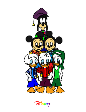 Disney's Mickey Donald and Goofy's Nephews 1 + 2 + 3 = 6.