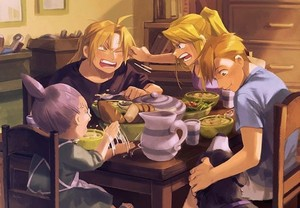 Ed, Al, and Winry