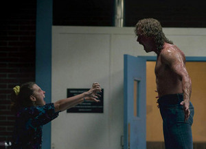 Eleven and Billy in The Sauna Test (3x04)
