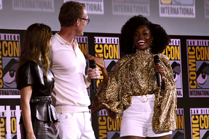 Elizabeth Olsen, Paul Bettany, and Teyonah Parris -Marvel Studios Panel, 2019 San Diego Comic Con