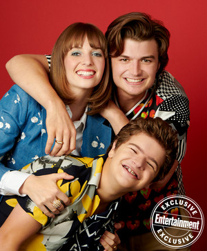 Entertainment Weekly's Stranger Things Portraits - 2019 - Maya Hawke, Joe Keery and Gaten Matarazzo