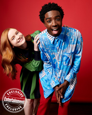 Entertainment Weekly's Stranger Things Portraits - 2019 - Sadie Sink and Caleb McLaughlin