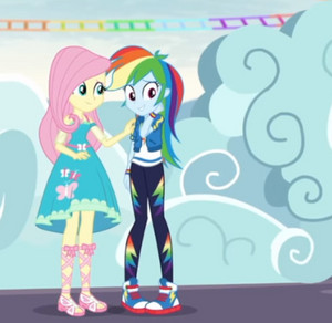 Equestria girls радуга dash & fluttershy