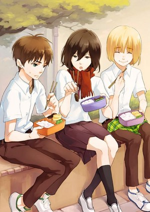 Eren, Mikasa, and Armin ~ Attack on Titan
