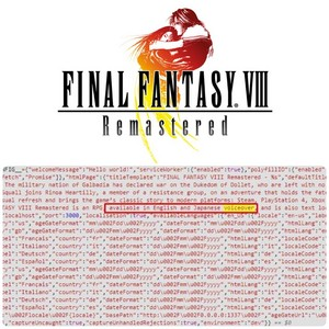 FINAL fantaisie VIII REMASTERED ERROR