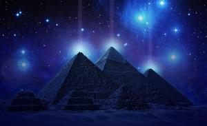 GIZA EGYPT BLUE NIGHT