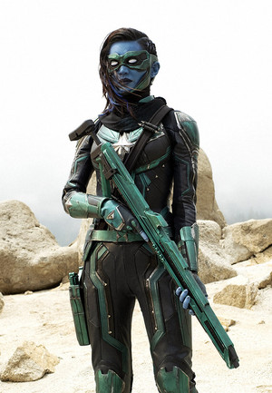 Gemma Chan as Minn-Erva in Captain Marvel
