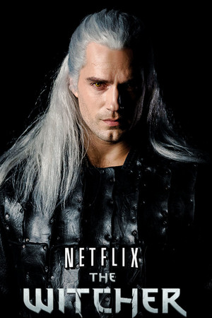 Geralt of Rivia in Netflix's The Witcher (2019) EW logo