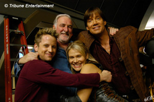 Gordon with the cast from Andromeda