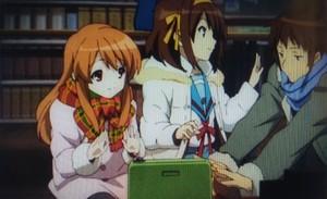 Haruhi Suzumiya Kyon and Mikuru Asahina