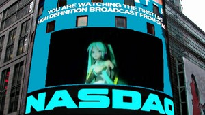 Hatsune Miku on Screen