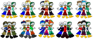Huey Dewey and Louie Quack Pack Outfit Time
