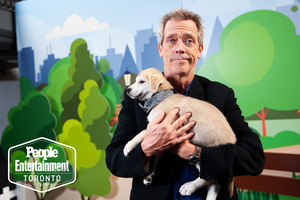 Hugh Laurie ~ Rescue puppy Photoshoot ~ EW @ TIFF