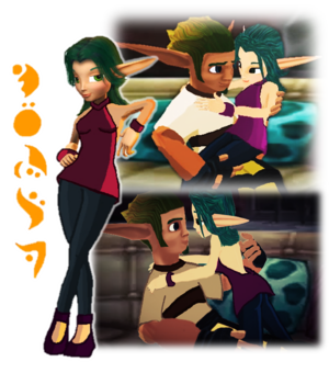 Jak and Keira Hagai 爱情 Mechanic Sweater MMD