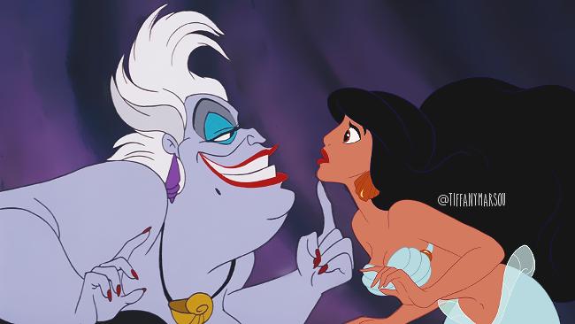 Jasmine as Ariel