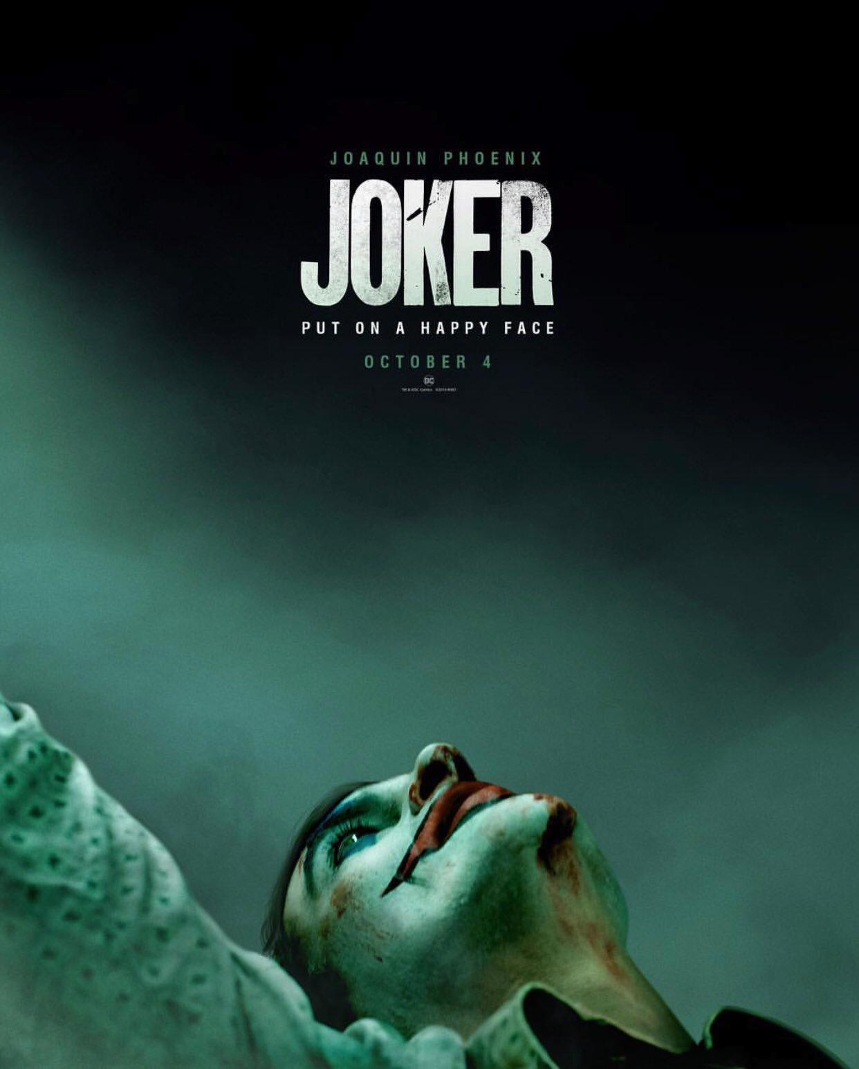 Joker (2019) Teaser Poster - Put On a Happy Face