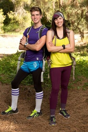 "Joseph ""Joey"" Graceffa and Meghan Camarena (The Amazing Race: All-Stars 2014)"