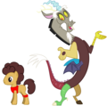 MLP Fanart Discord and Dumbbell Simmons - discord-my-little-pony-friendship-is-magic fan art