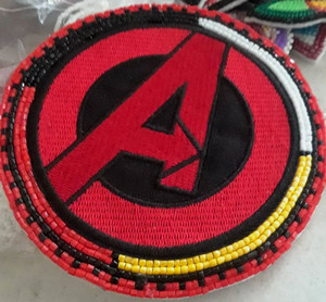 Manidoominensikaan ((Bead work)) Avengers Patch