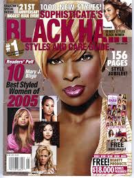 Mary J. Blige On The Cover Of Black Hair