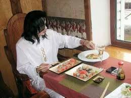 Michael Eating Sushi