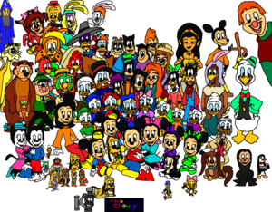 Mickey and his Family and His friends