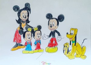 Mickey and his Family