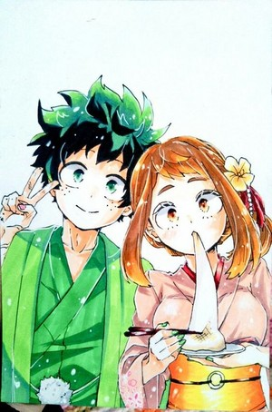 Midoriya and Uraraka