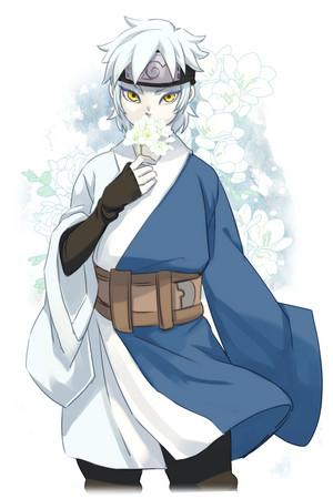 mitsuki with flowers