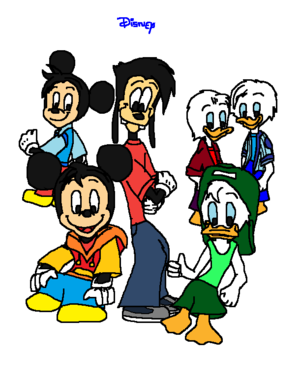 Morty Fieldmouse Max Goof and Louie Duck with (Huey, Dewey and Ferdie)