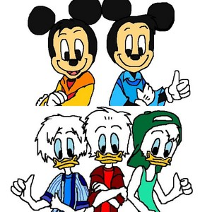 Morty and Ferdie & Huey, Dewey and Louie anatra Teenager